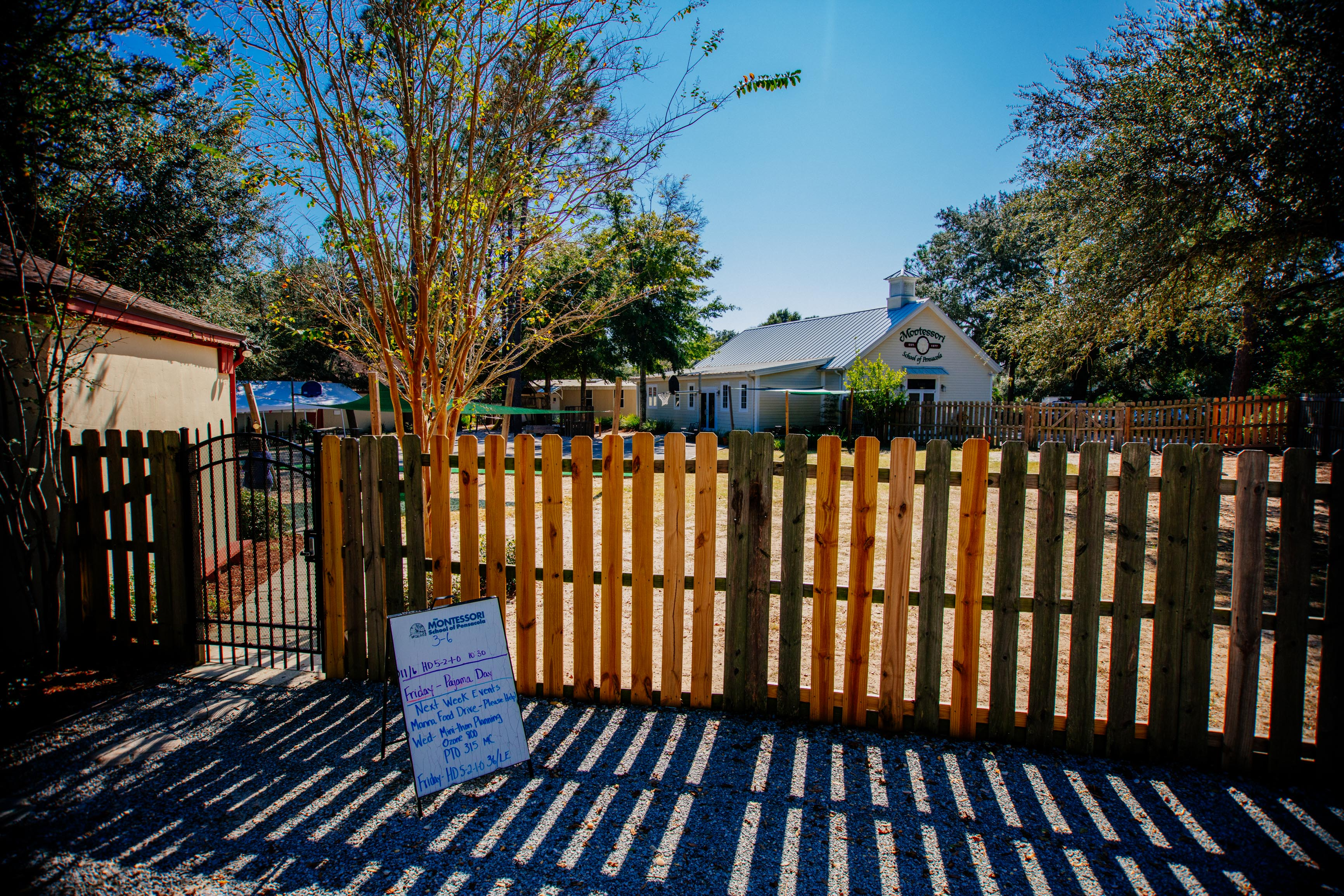 Outdoor photo of the Montessori Drive Campus