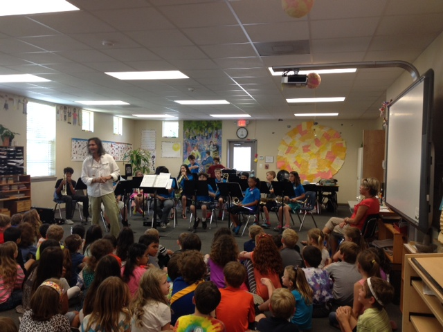 MSP's band performing for other students as a part of enrichment class