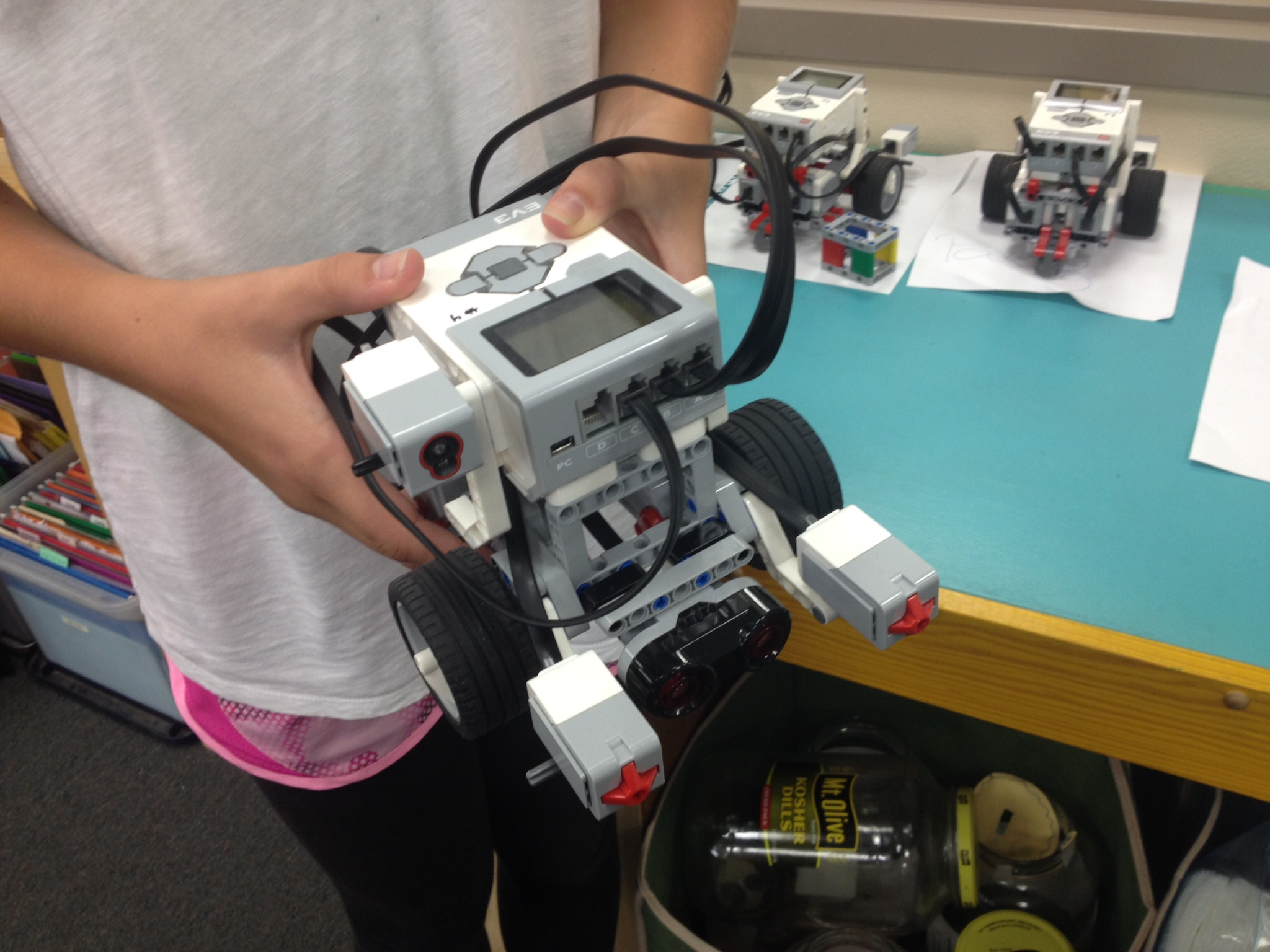 MSP middle school student showing off a robotics project
