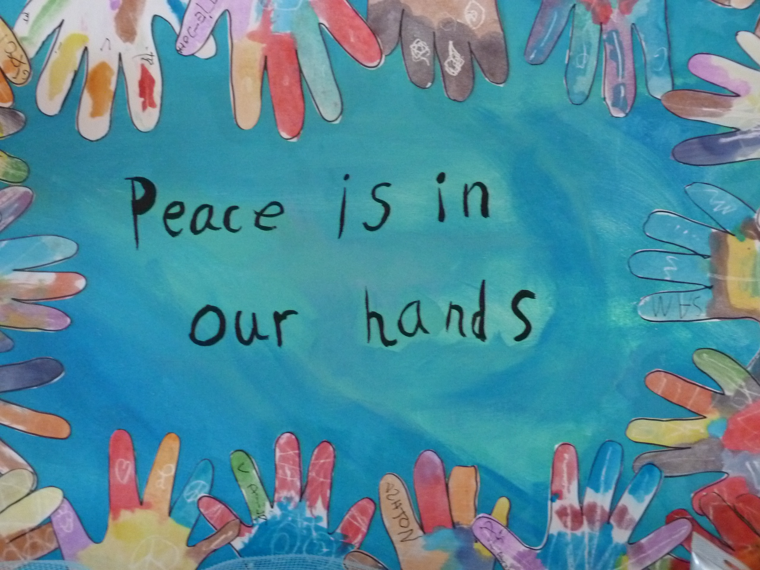 MSP students' art project representing Peace
