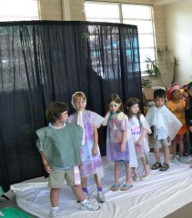 Students performing during drama week at MSP summer camp