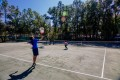 MSP students playing tennis on the tennis courts