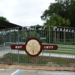 Front gate of Montessori School of Pensacola